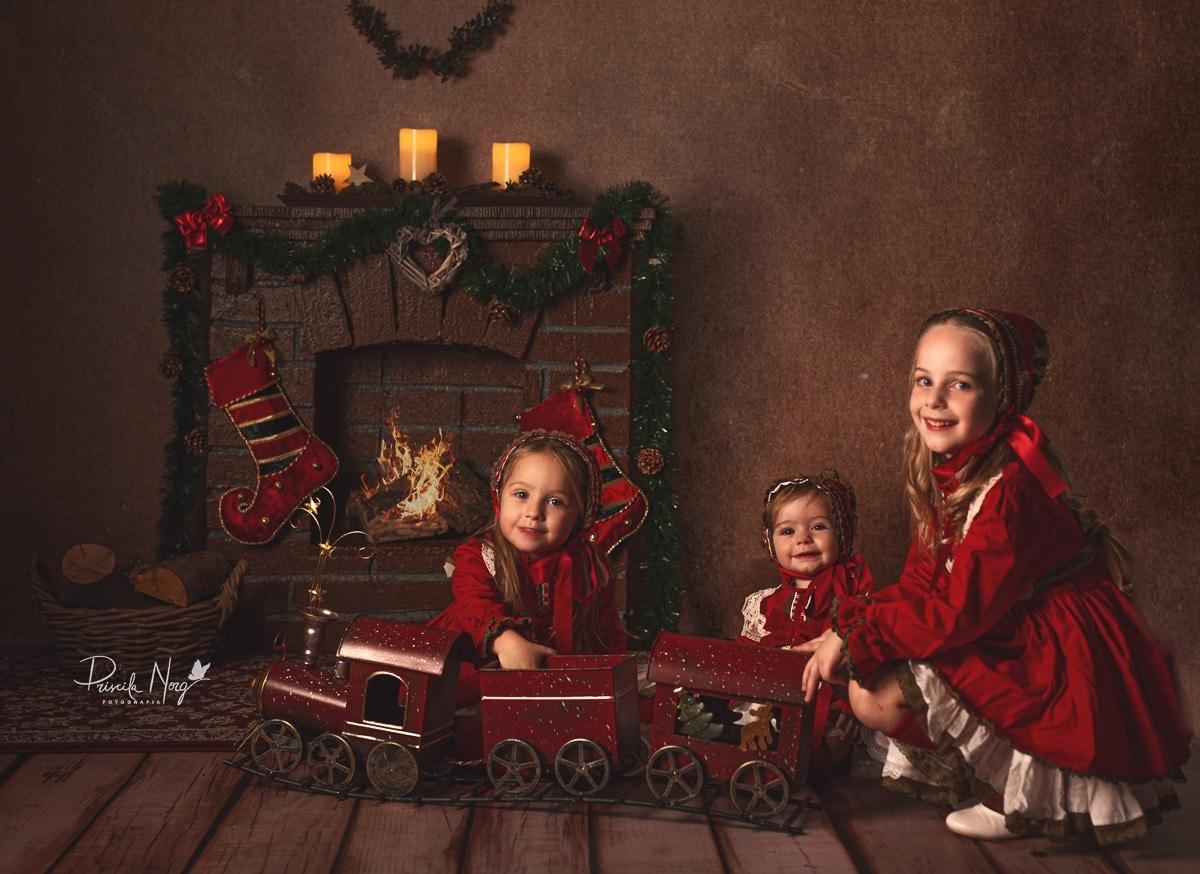 Fotografia de navidad ninos en palma