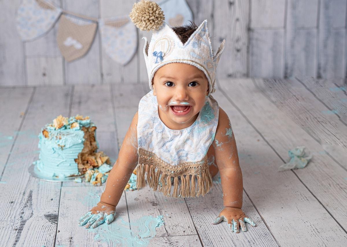 Fotografias bebe tarta primer ano en palma